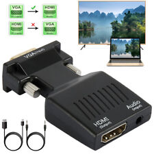 VGA to HDMI Adapter with Audio Male VGA to Female HDMI Converter to TV Computer