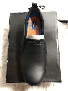 Dr Scholls Womens Just Start Slip On Work Shoes. Size 7.5 Wide. Black. New.