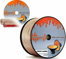 Hifi Lautsprecherkabel 25/ 50 / 100 m Audio Boxen Kabel 2 x 0,75/1,5/2,5/4,0 mm²