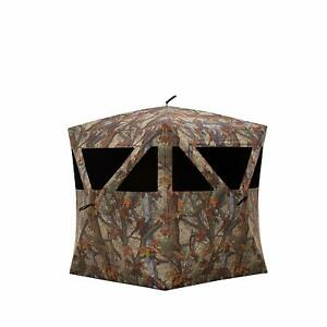 Barronett Prowler Ultra Light Ground Hunting Blind 2 Person Woodland Camo