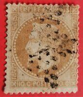 """Timbre EMPIRE Lauré Bistre N° 28d, (TB 723-2) oblit Etoile de Paris """"VARIETE"""""""