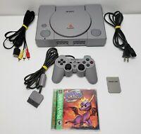 Sony PlayStation 1 Console Bundle SCPH-9001 - Controller & Spyro 2: Ripto's Rage