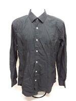 Men's Large (16 1/2) Duchamp Long Sleeve Tailored Fit Dress Shirt - 100% Cotton