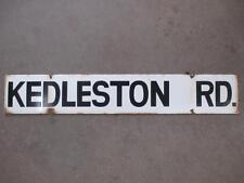 Street Sign, Enamelled, Kedleston Road, Vintage, Original