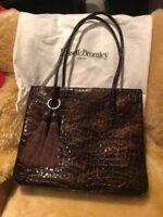 Stuart Weitzman Russell & Bromley Mock Croc Large Leather Handbag