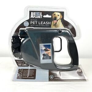 16 Foot Retractable Dog Leash w/ LED Flashlight For Dogs Up To 60lbs NEW SEALED