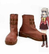 Charlotte Tomori Nao Cosplay Schuhe Kostüme Shoes Braun anime zapato scarpa Neu