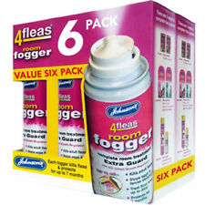 6 PACK - Johnsons 4fleas Room Flea Fogger Killer Bomb Spray - House Treatment