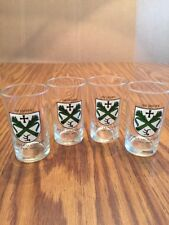 Vtg 4 Beer Wine Shot Glasses 3oz Laupheim Germany 550 yrs celebration 1431-1981
