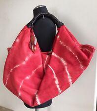 NWOT w/ Defects LAGALMA Red Tie-Dye Leather Slouchy Hobo Shoulder Bag Handbag