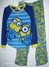 Dispicable ME Minion Women Pajamas M Pull Over Long Sleeve 100% Poly #-10