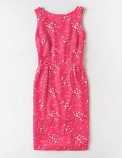 NEW $148 BODEN SILK / VISCOSE BLEND SPOTTED PINK ABIGAIL DRESS WH672 -SIZE US 2R