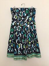 MUSE Strapless Multi Color Printed Mini Dress Sz 12