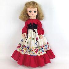 "Vintage 18"" Effanbee 1700 Sleep Eyes Doll 1965 Embroidered Original Dress Pantie"