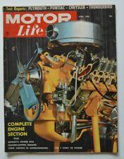 MOTOR LIFE April 1956 Plymouth 4-Door Hardtop Thunderbird Chrysler Pontiac