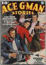 Vintage Pulp Magazine~ACE G-MAN STORIES~Mar/Apr 1937 MALVIN SINGER Cover!