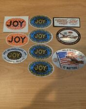 10 Vintage JOY Coal Mining Stickers