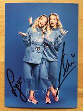 Lisa und Lena AK Instagram YouTube Autogrammkarte original signiert 2