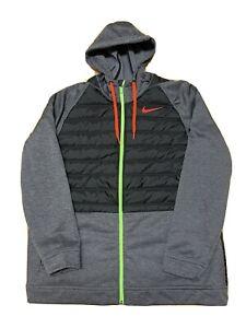 Nike Therma Winterized Training Hoodie Jacket Gray Black BV6298-032 Size 2XL
