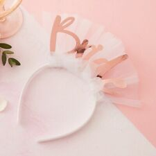 Team Bride to Be Headband Veil Tiara Crown Rose Gold Hen Night Party Accessories