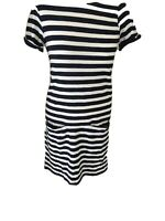 NEW White Stuff Ladies Navy Striped Dress Nautical Summer Cotton RRP £55 12-18