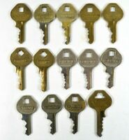 LOT of 14 Vtg MASTER Lock Co Pad Lock Keys Old Collectible