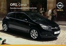 Opel Corsa Innovation Sondermodell Prospekt 7/08 2008 Autoprospekt Broschüre Pkw