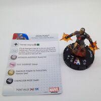 Heroclix Avengers Assemble set Iron Man #050 Super Rare figure w/card!