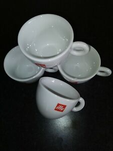 4 x Original illy Cappuccino Cups Made in Italy new other