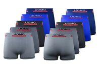 12 er Pack UOMO Herren Boxershorts M - 2 XL Unterhose Seamless Top Qualität