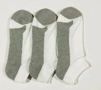 3 6 12 Pairs Mens Grey Cotton No Show Quarter Low Cut Socks Men Size 10-13 White