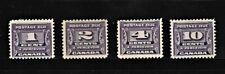 CANADA 1933-1934 Postage Due Set  SC# J11-J14 MLH