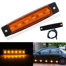 Universal Orange LED Side Marker Indicators Light Amber Lamp Auto Truck Trailer