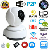 Wireless WIFI Pan Tilt 720P HD Cam Security Network CCTV IP Camera Night Vision