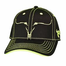 81780bbfe61 Cowboy Hardware Black   Neon Yellow Snapback Ball Cap 101121-010-Q
