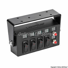 LAMPHUS SWBX42 (4) 25A ON/OFF Rocker Switches & (2) Momentary Switch Box