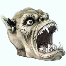NEW GOTHIC DEMON TROLL SKULL HEAD ASHTRAY FIGURINE MYTHICAL CREATURE HALLOWEEN