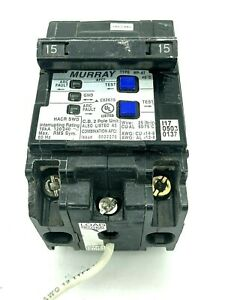 Murray MP215AFCP 15 Amp 2 Pole 120/240VAC Type MP-AT Combination AFCI Breaker