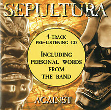 SEPULTURA  4Track Pre Listening Promo CD Against 1998 very rare