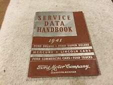 1941 LINCOLN,FORD,MERCURY, SERVICE DATA HANDBOOK     ORIGINAL   MINT