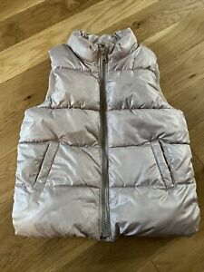 Girls 5t Zip Up Puffy Vest Old Navy Silver