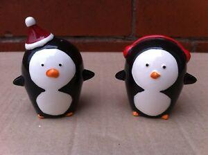 Penguin Salt & Pepper Shakers Novelty Dinner Table Settings Christmas Decoration