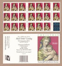 {BJ Stamps}  3244a  32¢ Madonna & Child.  Plate 11111   Mint pane of 20.  1998
