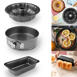 Baking Black Cake Molds Non Stick Spring Round/Rectangle/Pumpkin Tin Tray Pan