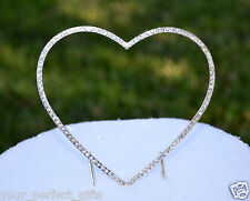 Swarovski Rhineston Crystal Wedding Cake Topper Heart