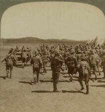 Camp Alarm at Honey Nest Kloof, Battery repulsed Boers - Boer War Stereoview