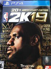 NBA 2K19 - 20th Anniversary Special Edition - LeBron  - PS4 - Ships Fast NIB