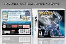 NINTENDO DS : POKEMON DIAMOND VERSION. ENGLISH. COVER + ORIGINAL BOX. (NO GAME)