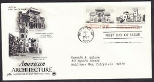 """USA """"Artcraft"""" 1980 - Architecture First Day Cover addressed"""