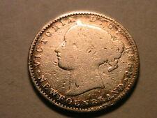 1865 Canada Newfoundland 5 Cent Good (G) Maritime Colonial Silver Half Dime Coin
